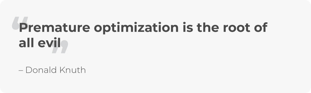 TCO and optimization
