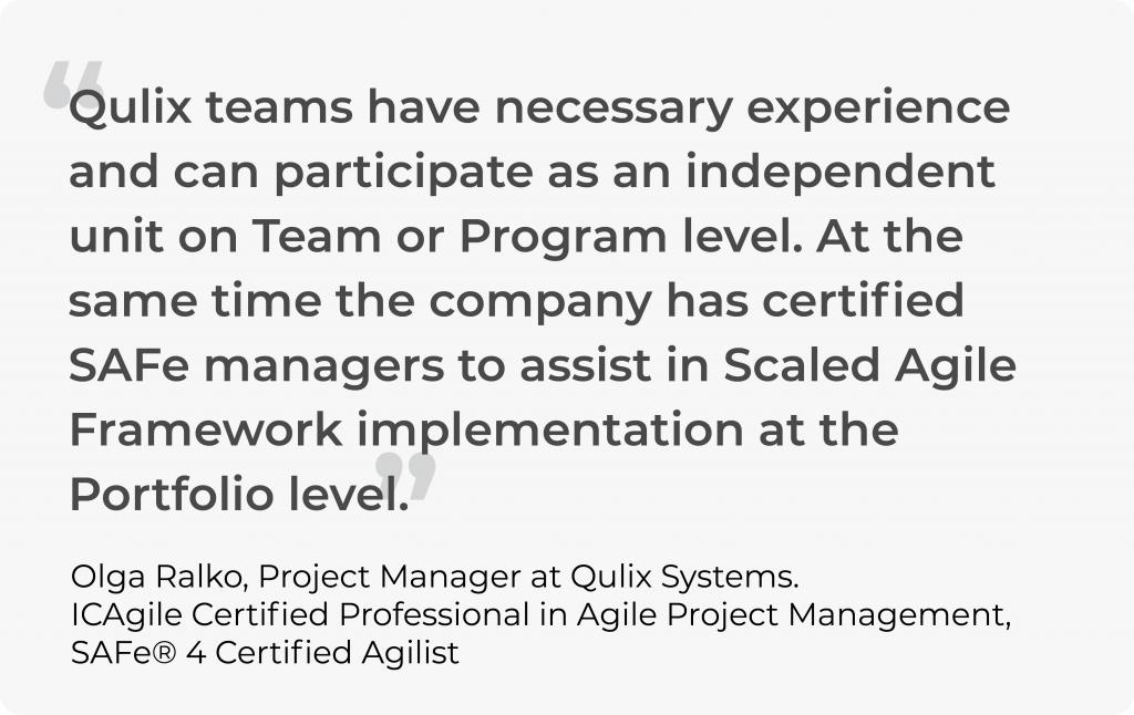 scaled agile implementation for software devlopment teams