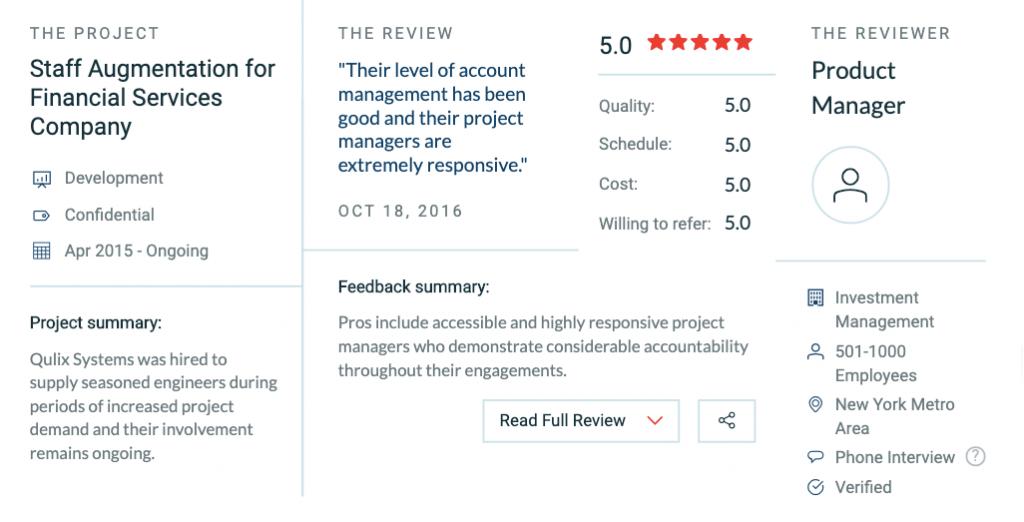 Qulix Company Review