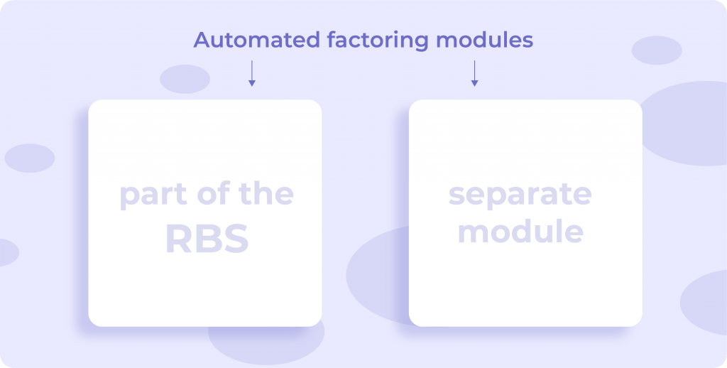 digital factoring banking separate module or part of the remote banking services