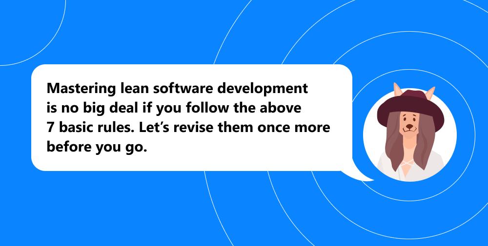 lean software development recap
