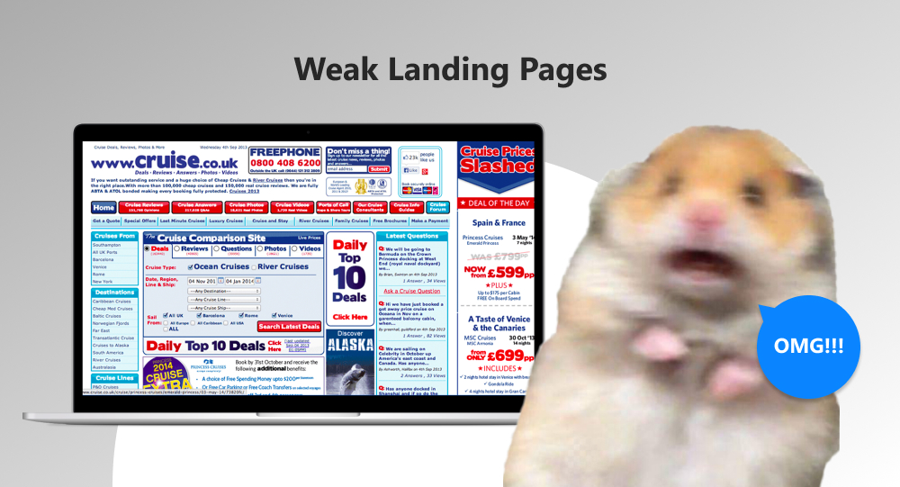 ineffective landing page