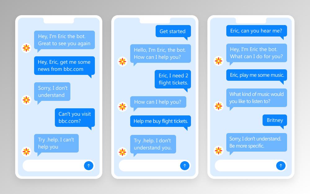 bad conversational ui example