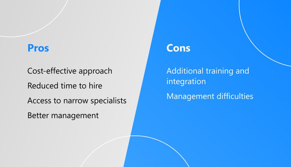 benefits and drawbacks of staff augmentation